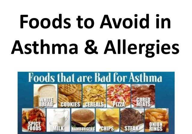 Foods to avoide with asthma