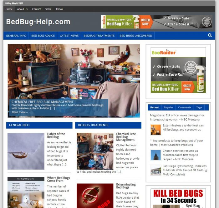 Bed bug help complete website business