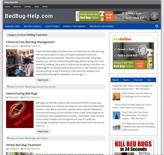 bed bug tips complete turnkey website business