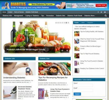 Best-diabetes-tips.com Domain + Website Business