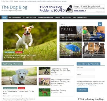 Dog Training Niche Website
