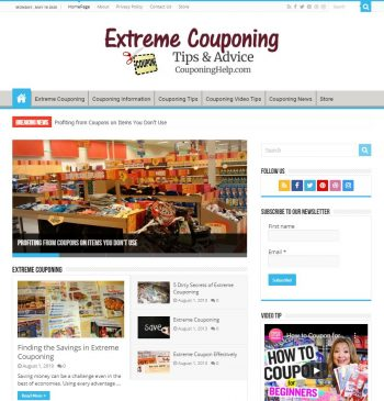 CouponingHelp.com Extreme Couponing Website Business