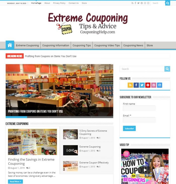 Extreme Couponing Tips Website couponinghelp.com