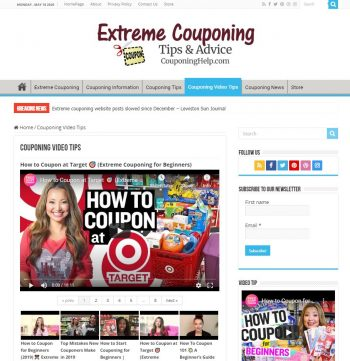 Extreme Couponing Turnkey Website Video Tips