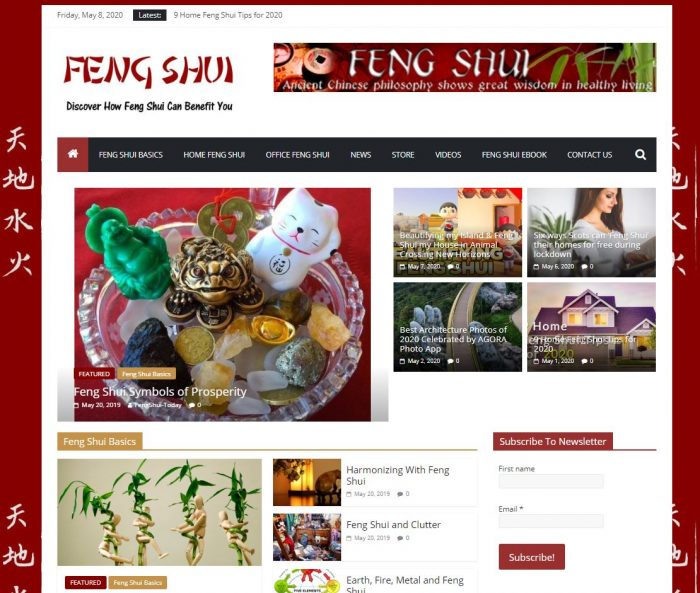 FengShui tips turnkey website
