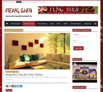 FengShui Tips Turnkey Niche Website