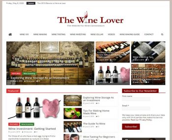 Wine Making, Wine Info Turnkey Website Business