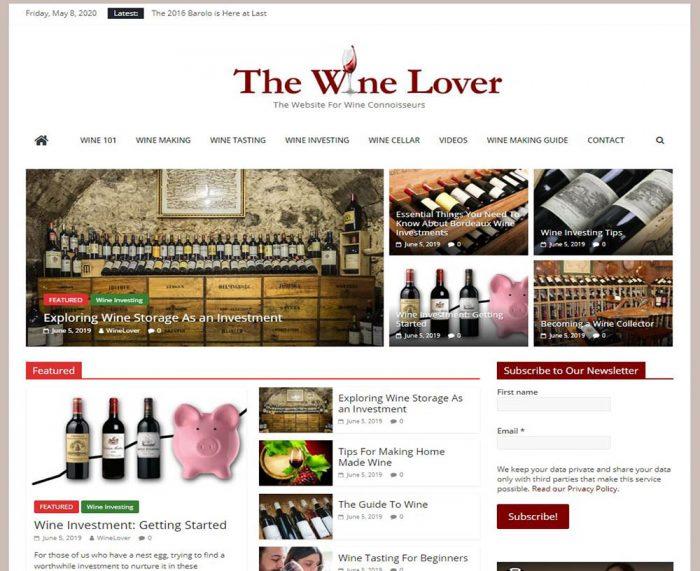 Wine making, wine info turnkey website business