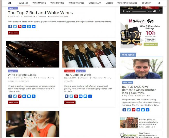 wine tips turnkey website business
