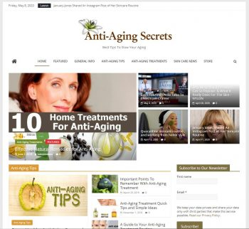 Anti-Aging Secrets Turnkey Website