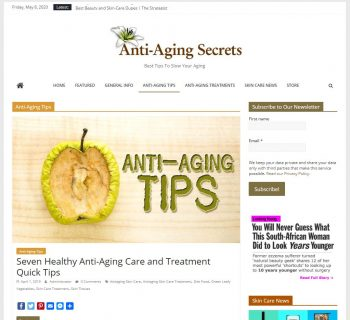 Anti Aging Tips Turnkey Website Business