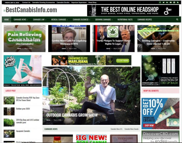 Cannabis, CDB turnkey website