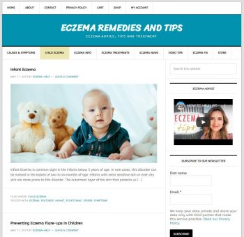 Infant Eczema Turnkey Website Business