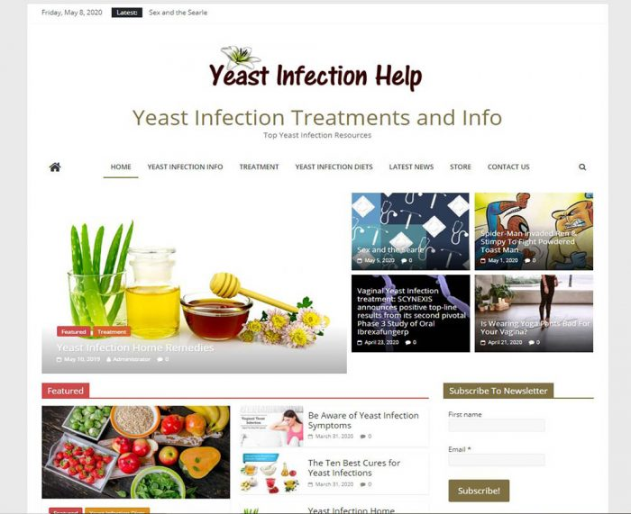 Women's health yeast infection turnkey website