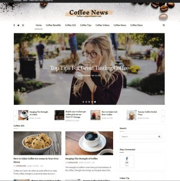 Coffee-Lovers-Dream.com Domain + Turnkey Website