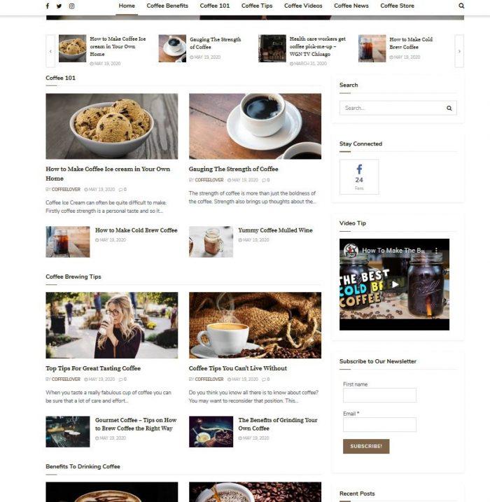 coffee turnkey website business
