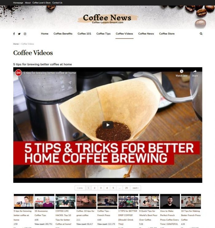 coffee lover turnkey website business video tips