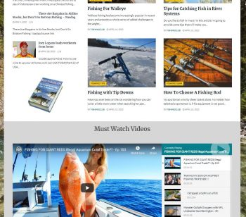 Fishing, Angling Turnkey Niche Website