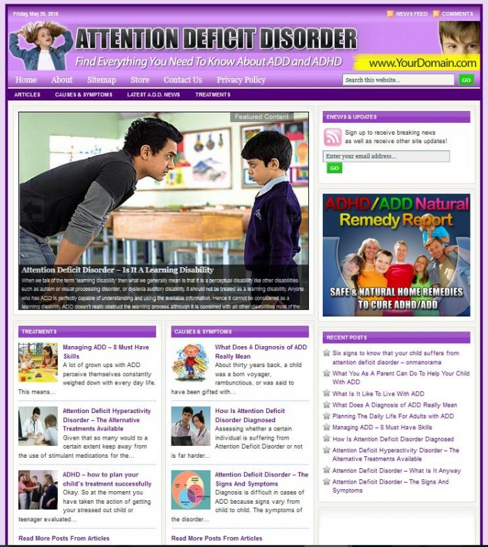 Attention Deficit Disorder Blog