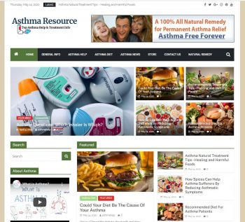 Asthma Resource Turnkey Website W Product