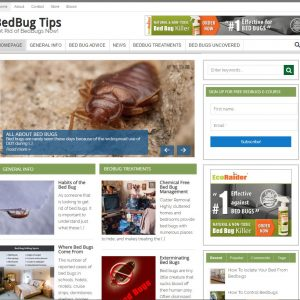 Bed Bug Tips Turnkey Website