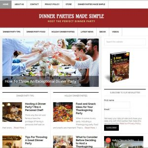 Dinner Party Tips Turnkey Website