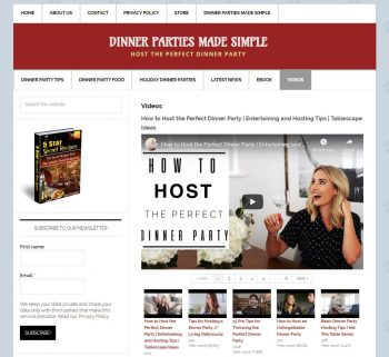 Dinner Party Tips Website, Video Tips
