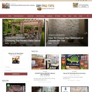 DIY, Home Improvement Turnkey Website