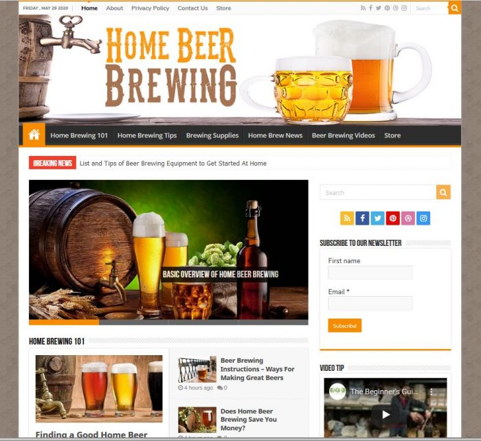 home brewing help turnkey website