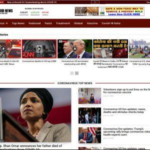 Top Covid-19 News Turnkey Website