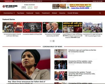 TopCovid19News.com Coronavirus News Website Business