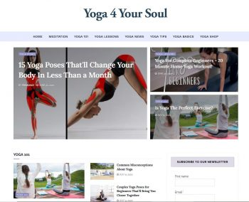 Yoga4YourSoul.com Turnkey Website Business